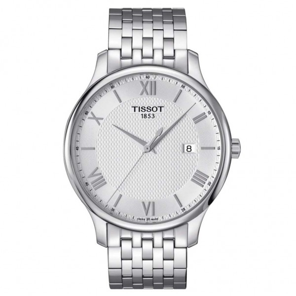 TISSOT T-Classic Tradition Silver Stainless Steel Bracelet T0636101103800