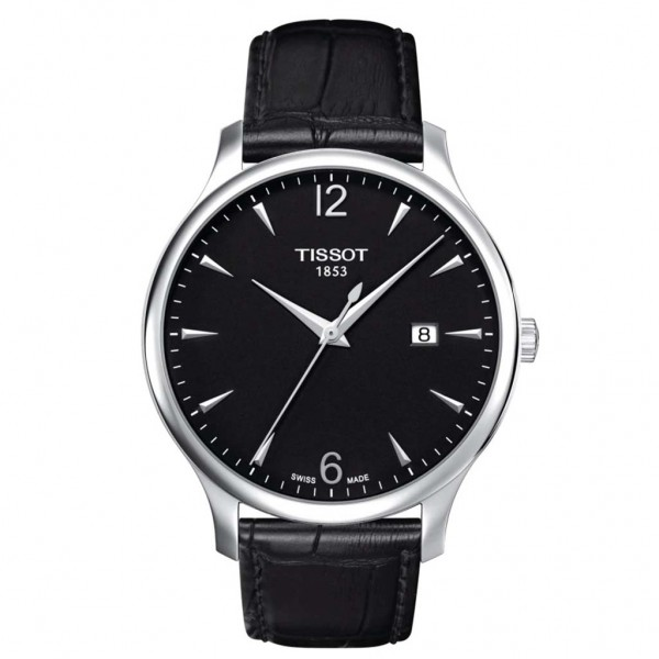 TISSOT T-Classic Tradition Black Leather Strap T0636101605700