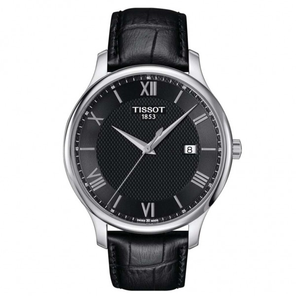 TISSOT T-Classic Tradition Black Leather Strap T0636101605800