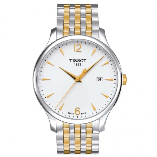 TISSOT T-Classic Tradition Two Tone Stainless Steel Bracelet T0636102203700