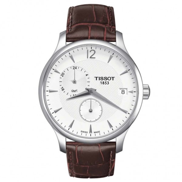 TISSOT T-Classic Tradition GMT Brown Leather Strap T0636391603700