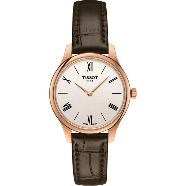 TISSOT T-Classic Tradition 5.5 Lady Brown Leather Strap T0632093603800