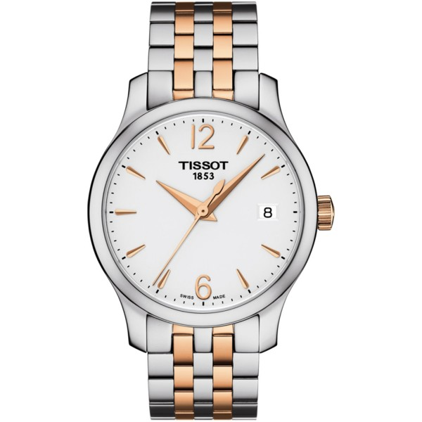 TISSOT T-Classic Tradition Lady Two Tone Stainless Steel Bracelet T0632102203701