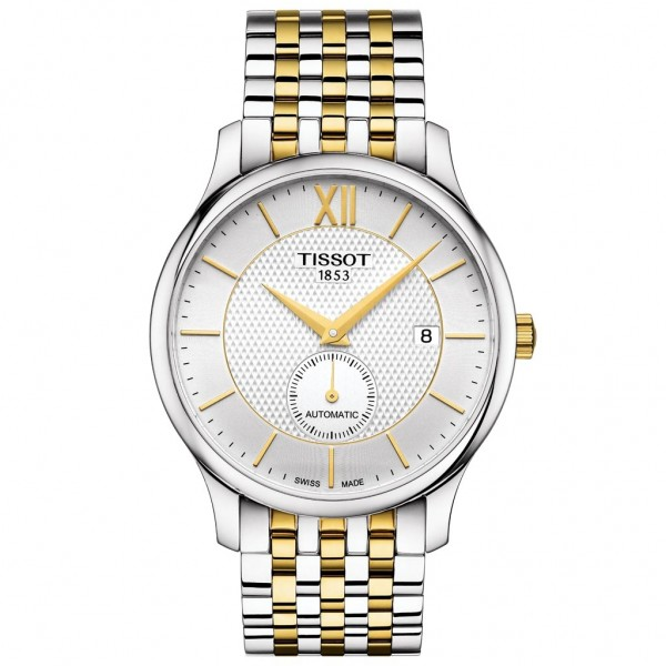TISSOT T-Classic Tradition Automatic Small Second Two Tone Stainless Steel Bracelet T0634282203800