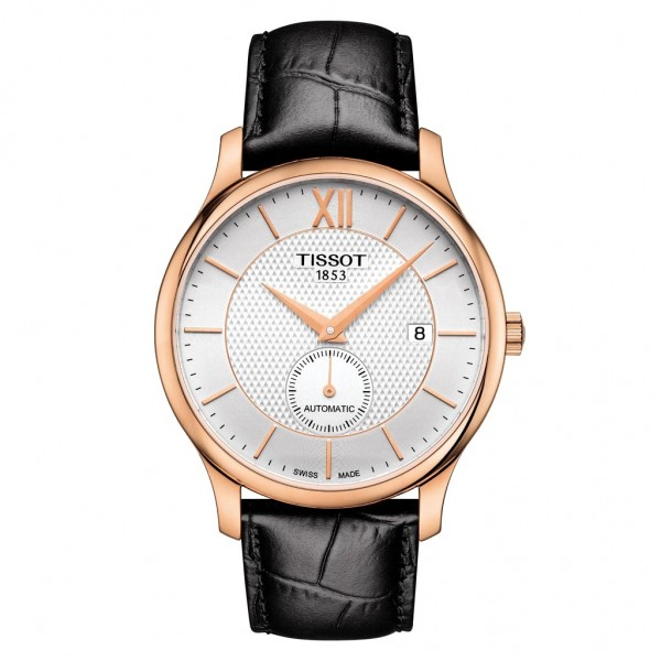 TISSOT T-Classic Tradition Automatic Small Second Black Leather Strap T0634283603800