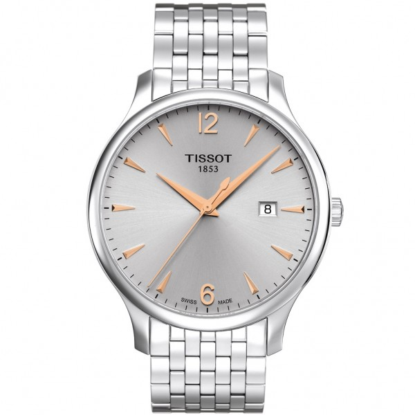 TISSOT T-Classic Tradition Silver Stainless Steel Bracelet T0636101103701