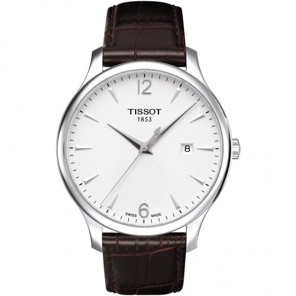 TISSOT T-Classic Tradition Brown Leather Strap T0636101603700