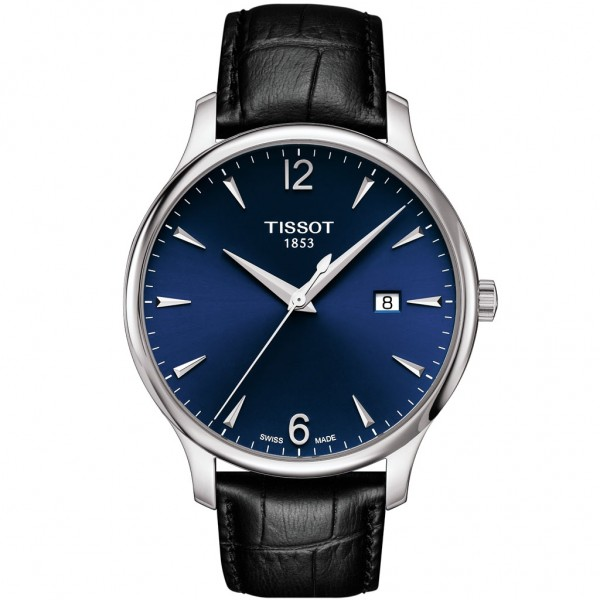 TISSOT T-Classic Tradition Black Leather Strap T0636101604700