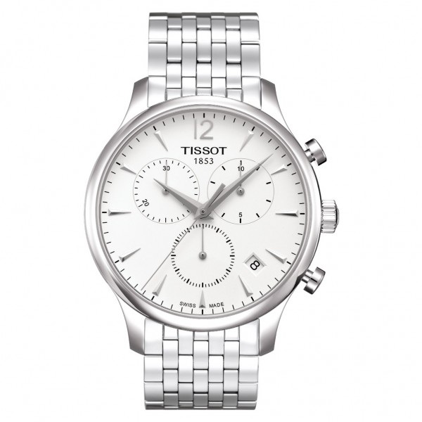 TISSOT T-Classic Tradition Chrono Silver Stainless Steel Bracelet T0636171103700