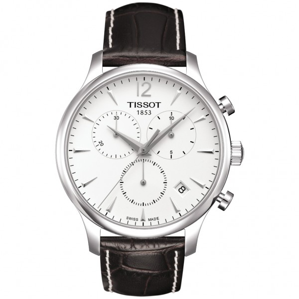 TISSOT T-Classic Tradition Chrono Brown Leather Strap T0636171603700