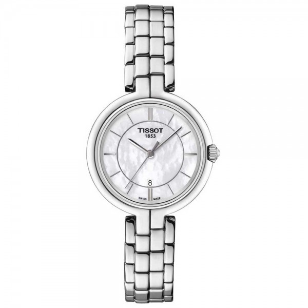 TISSOT T-Lady Flamingo Silver Stainless Steel Bracelet T0942101111100