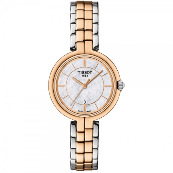TISSOT T-Lady Flamingo Two Tone Stainless Steel Bracelet T0942102211100