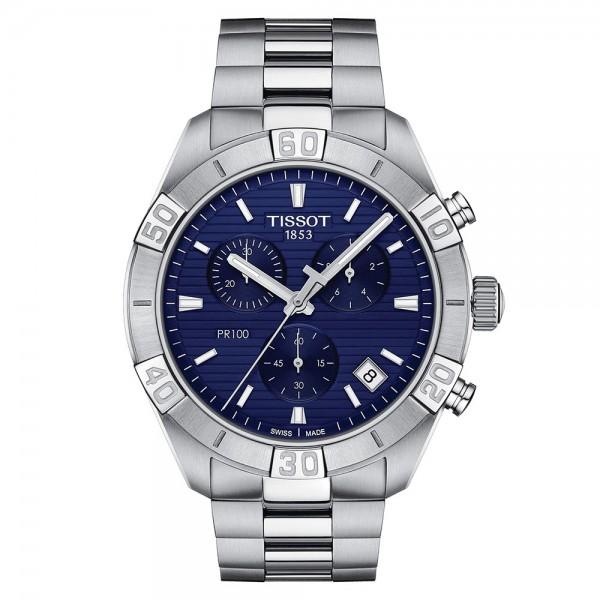 TISSOT T-Classic PR 100 Chronograph Silver Stainless Steel Bracelet T1016171104100