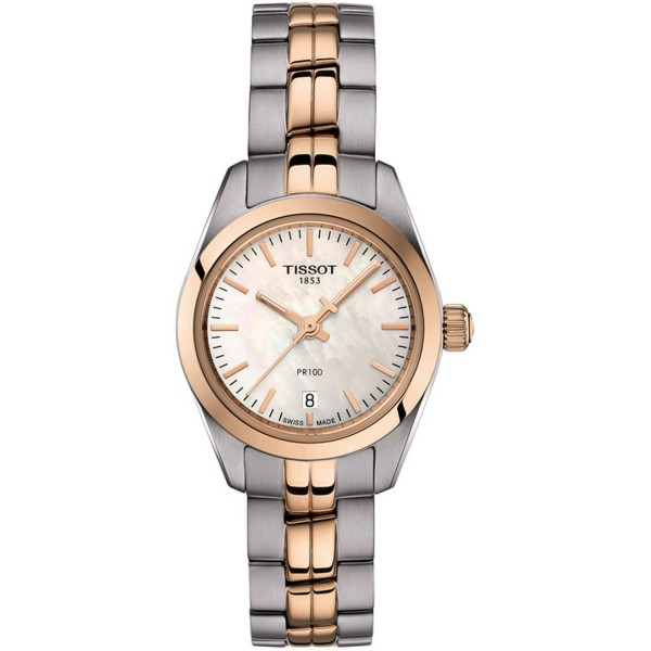 TISSOT T-Classic PR 100 Lady Small Two Tone Stainless Steel Bracelet T1010102211101
