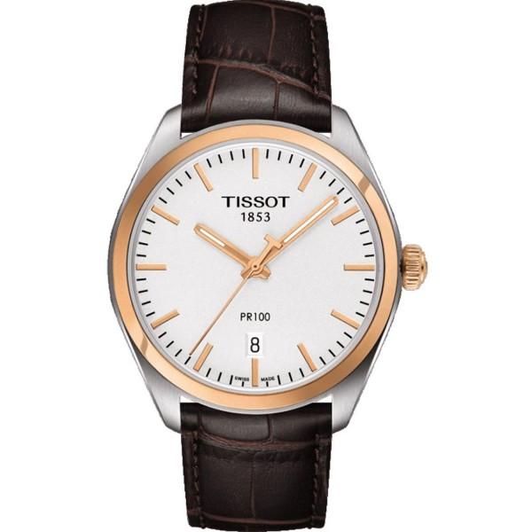TISSOT T-Classic PR 100 Brown Leather Strap T1014102603100