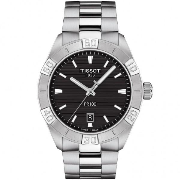 TISSOT T-Classic PR 100 Silver Stainless Steel Bracelet T1016101105100