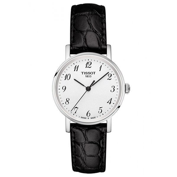 TISSOT T-Classic Everytime Lady Black Leather Strap T1092101603200