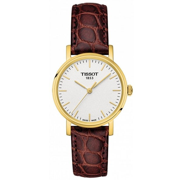 TISSOT T-Classic Everytime Lady Brown Leather Strap T1092103603100