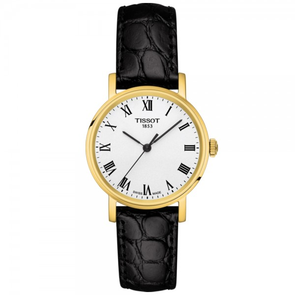 TISSOT T-Classic Everytime Lady Black Leather Strap T1092103603300