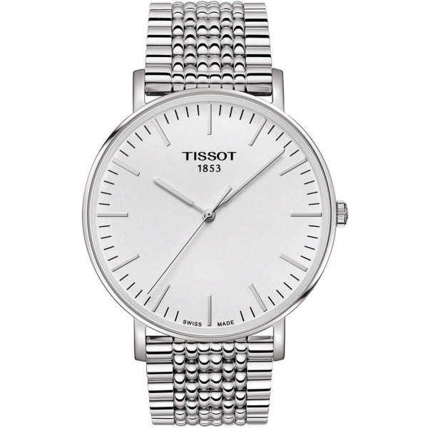 TISSOT T-Classic Everytime Large Silver Stainless Steel Bracelet T1096101103100