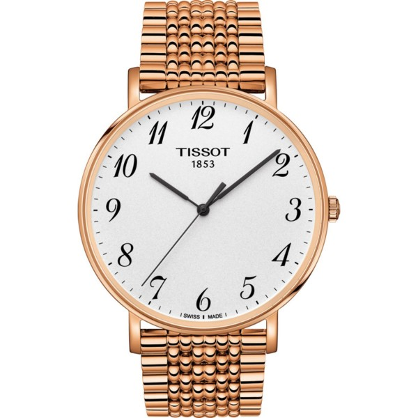 TISSOT T-Classic Everytime Big Gent Rose Gold Stainless Steel Bracelet T1096103303200