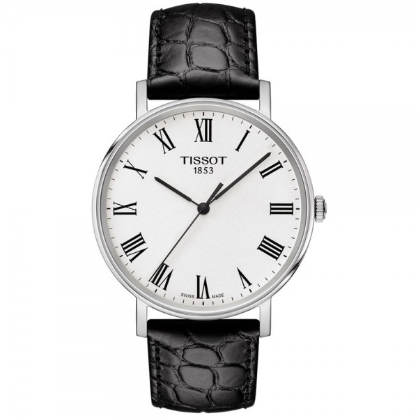 TISSOT T-Classic Everytime Black Leather Strap T1094101603301