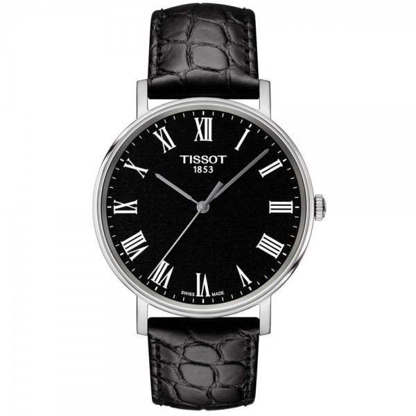 TISSOT T-Classic Everytime Black Leather Strap T1094101605300