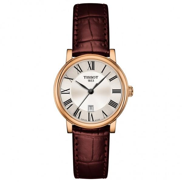TISSOT T-Classic Carson Premium Brown Leather Strap T1222103603300