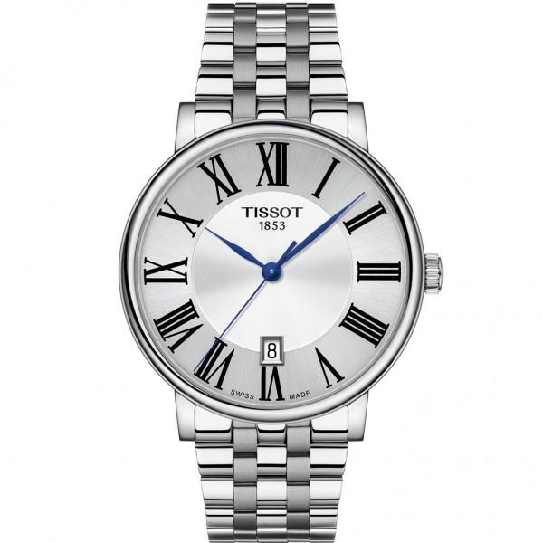 TISSOT T-Classic Carson Premium Silver Stainless Steel Bracelet T1224101103300