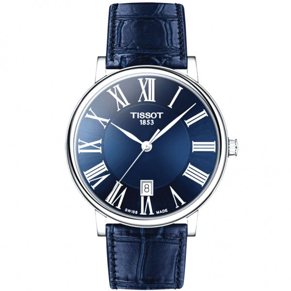 TISSOT T-Classic Carson Premium Blue Leather Strap T1224101604300