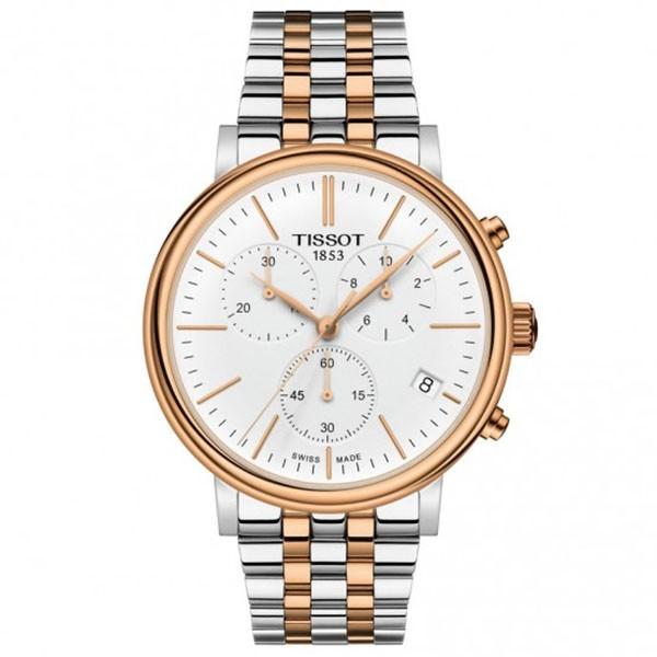 TISSOT T-Classic Carson Premium Chronograph Two Tone Stainless Steel Bracelet T1224172201100