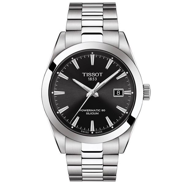TISSOT T-Classic Gentleman Powermatic 80 Silicium Silver Stainless Steel Bracelet T1274071105100