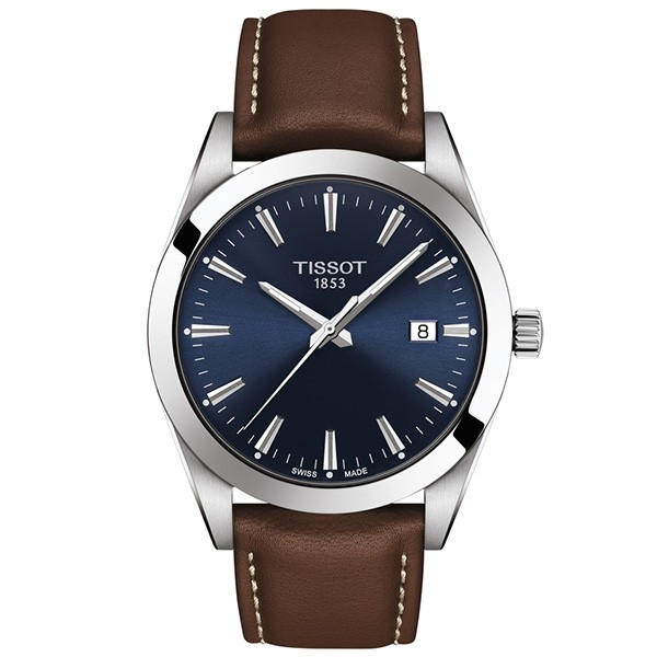 TISSOT T-Classic Gentleman Brown Leather Strap T1274101604100
