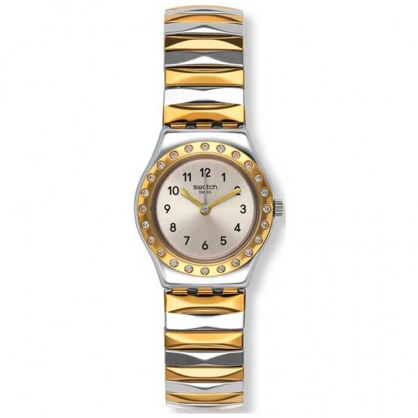 SWATCH Demoiselle D'Honneur YSS302A Two Tone Stainless Steel Bracelet Large