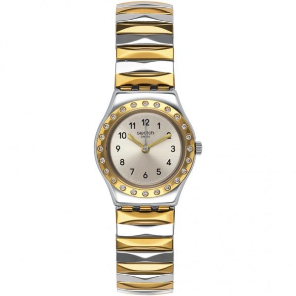 SWATCH Demoiselle D'Honneur YSS302B Two Tone Stainless Steel Bracelet Small