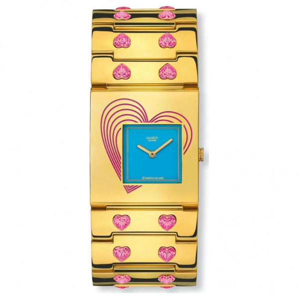 SWATCH From Within YUG101G Gold Stainless Steel Bracelet