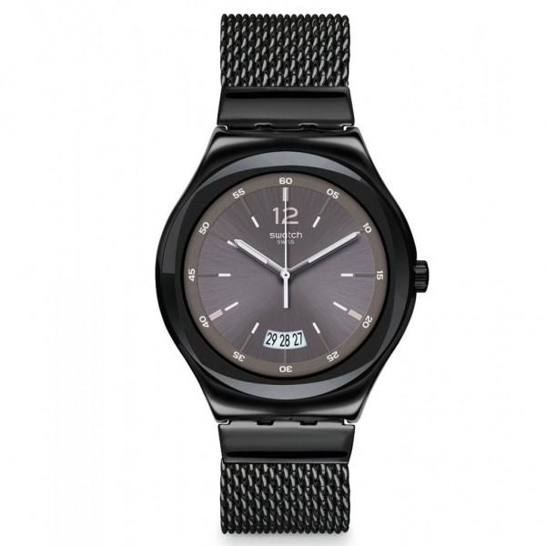 SWATCH TV Set YWB405MB Black Stainless Steel Bracelet Small