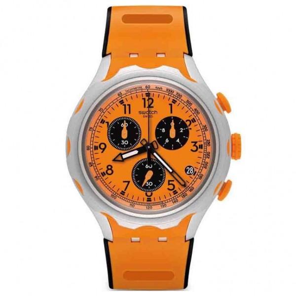 SWATCH Caccia YYS4010 Chrono Orange Silicone Strap
