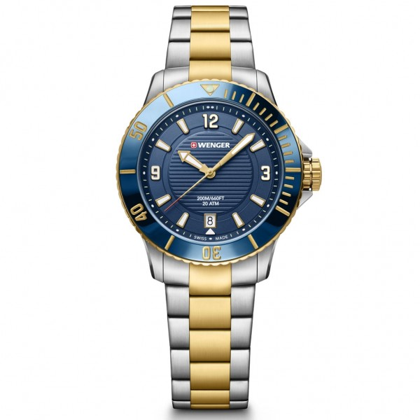 WENGER Seaforce Small 01.0621.114 Two Tone Stainless Steel Bracelet