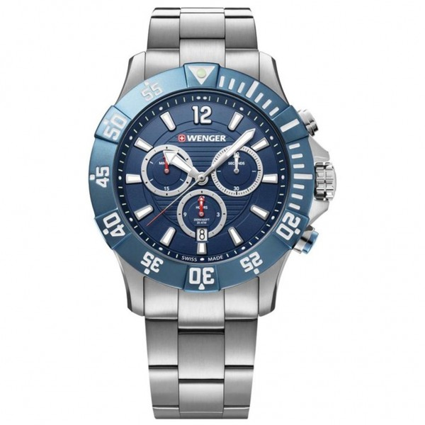 WENGER Seaforce Chrono 01.0643.119 Silver Stainless Steel Bracelet