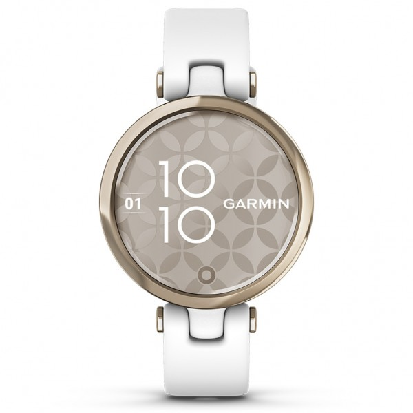 GARMIN Lily Sport Cream Gold Bezel with White Case and Silicone Band 010-02384-10