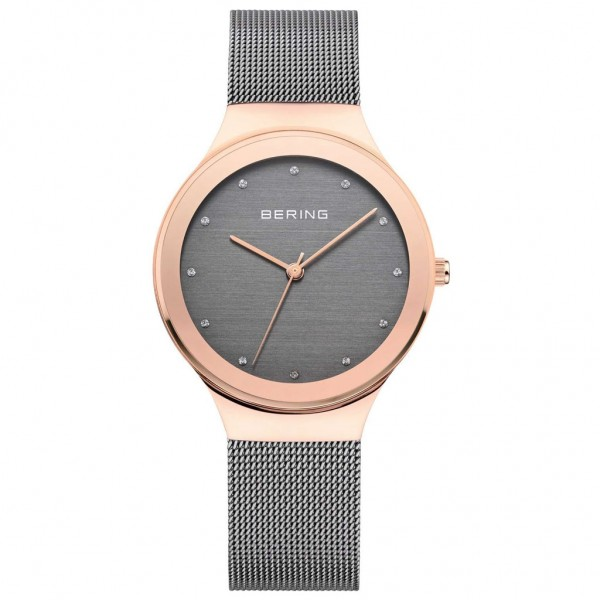 BERING Classic 12934-369 Crystals Grey Stainless Steel Bracelet
