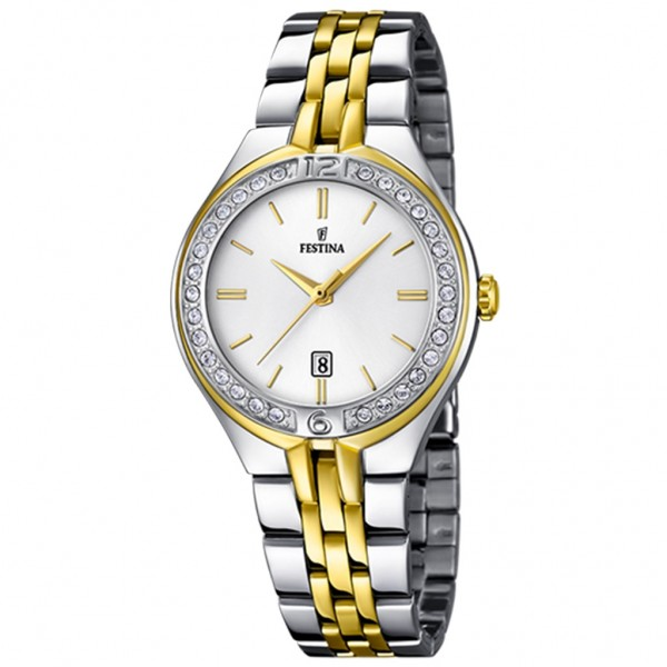 FESTINA Mademoiselle F16868/1 Crystals Two Tone Stainless Steel Bracelet