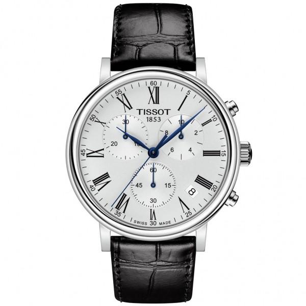 TISSOT T-Classic Carson Premium Chronograph Black Leather Strap T1224171603300