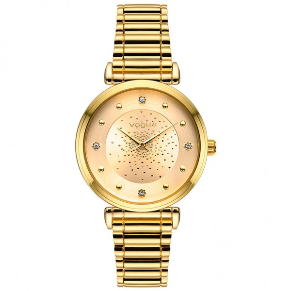 VOGUE Bind 610242 Crystals Gold Stainless Steel Bracelet