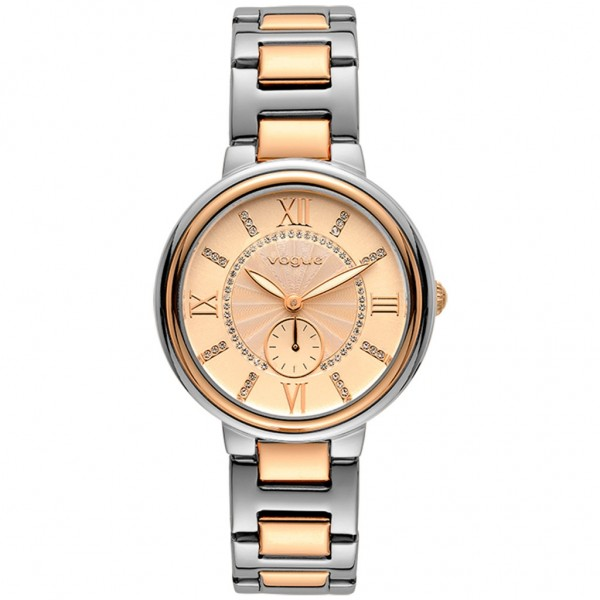 VOGUE Limoges 610371 Crystals Two Tone Stainless Steel Bracelet