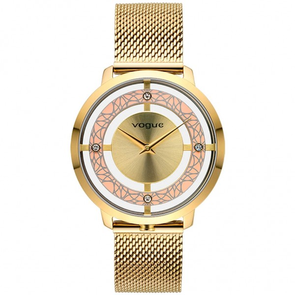 VOGUE Cannes 610741 Crystals Gold Stainless Steel Bracelet