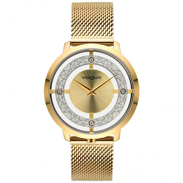 VOGUE Cannes 610742 Crystals Gold Stainless Steel Bracelet