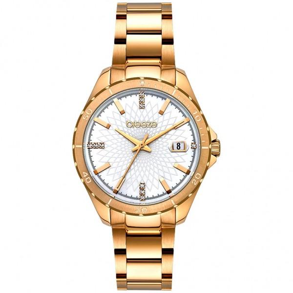 BREEZE MantaRay 212141.1 Crystals Rose Gold Stainless Steel Bracelet