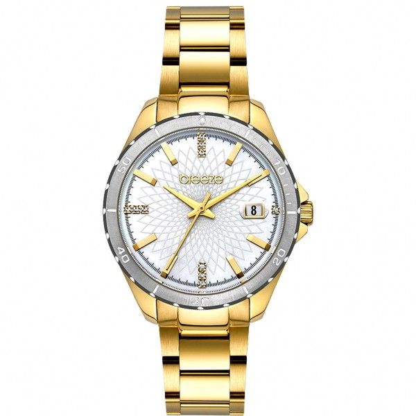 BREEZE MantaRay 212141.2 Crystals Gold Stainless Steel Bracelet
